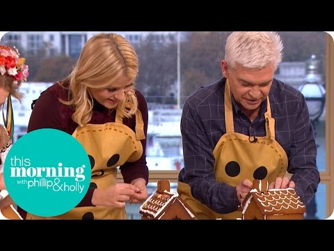 Holly and Phillip go Head to Head Decorating Gingerbread Houses | This Morning