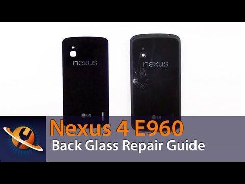LG Google Nexus 4 E960 Glass Back Cover Repair Video
