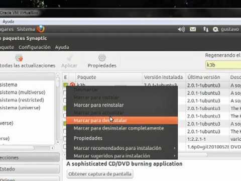 Grabar cd en Ubuntu