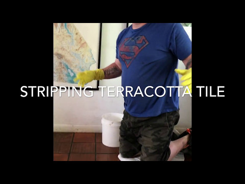 Removing sealer from terracotta tile and grout (BEST WAY)