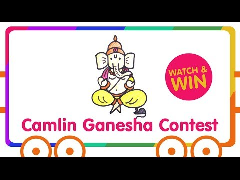 Lord Ganesh Drawing for Kids - Camlin Ganesha Contest - Watch & WIN