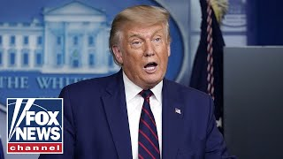 Trump holds news conference to mark Labor Day