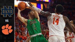 Notre Dame vs. Clemson Basketball Highlights (2017-18)