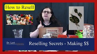 Secrets to Reselling your Goodwill \u0026 Thrift with Me Finds for Big Money by Dr. Lori