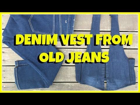 Denim Vest from old jeans ll How to ll Recycle Jeans ll No sew method ll Smalltowngirl