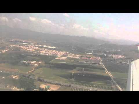 Landing and Taxi at Malaga Airport - June 2011