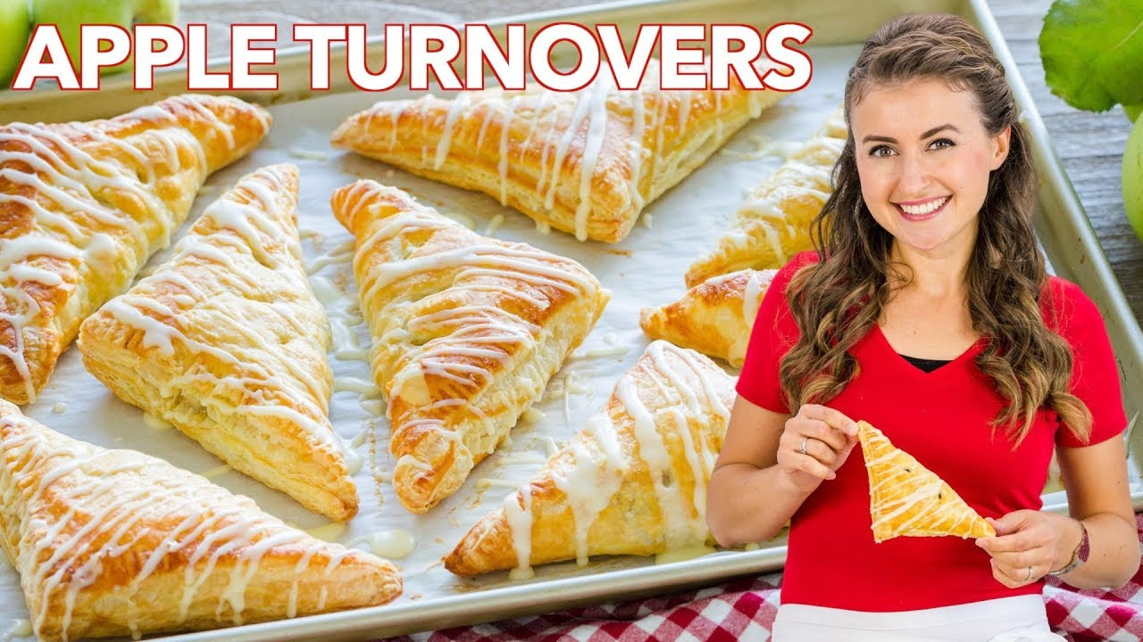 Easy Apple Turnover Recipe   Simple Glaze for Apple Turnovers