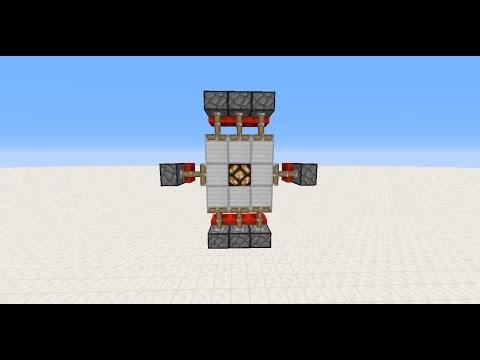 Minecraft 3x3 piston door | Easy tutorial!