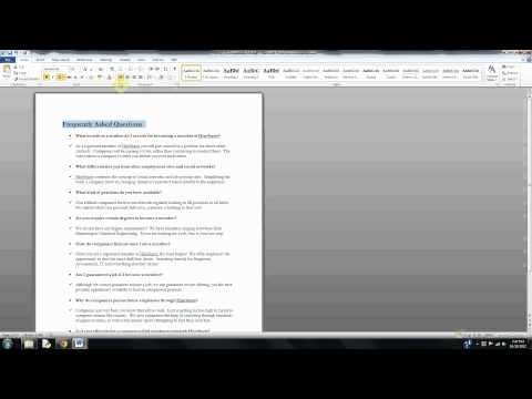 How to Center Text in Microsoft Word
