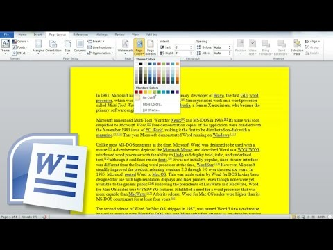 How to Change Page Color in Word, Change the Background or Color of a Word Document