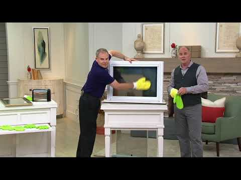 4 Piece Microfiber Dusting Gloves and Glass Cleaning Mitts on QVC