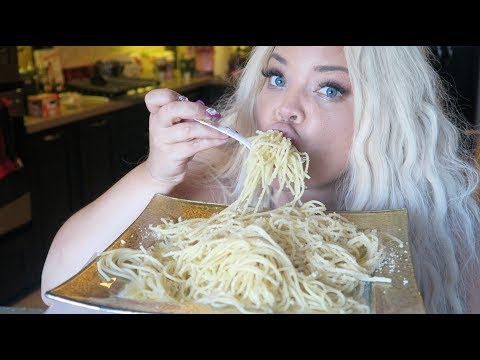 BUTTERED PASTA AND CHEESE MUKBANG! WATCH ME EAT | NOODLES EATING SHOW