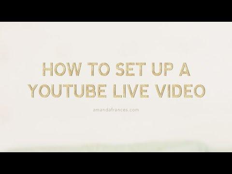 How to Host Webinar through a You Tube Live Event/Google Hangouts | Amanda Frances