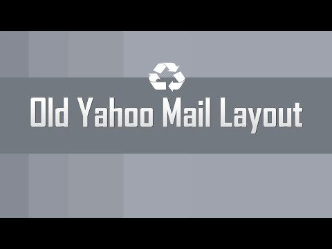 Get old Yahoo Mail layout version