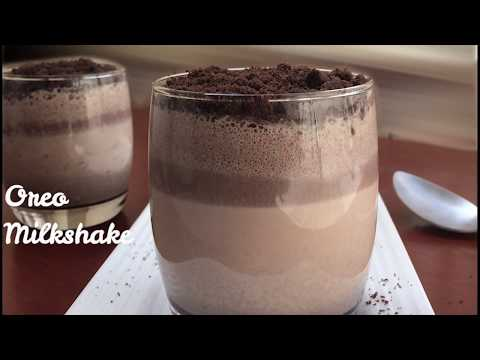 Oreo Milkshake - Just 3 Ingredients   Super Delicious Layered Oreo Milkshake - in 2 Minutes