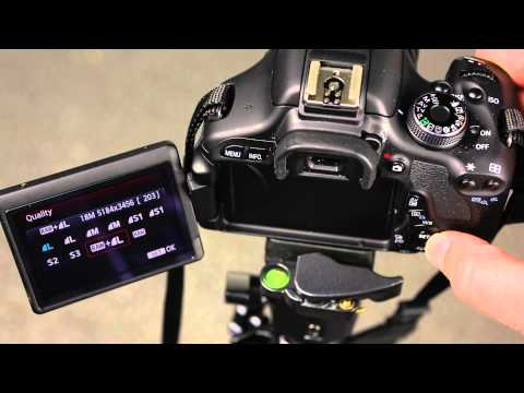 Canon600D How to change the file type