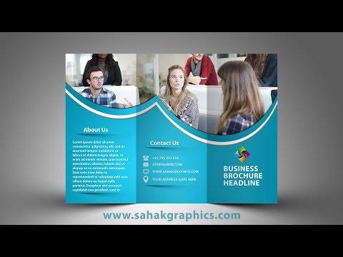 Tri Fold Brochure Design | In Photoshop cc  tutorial by sahak