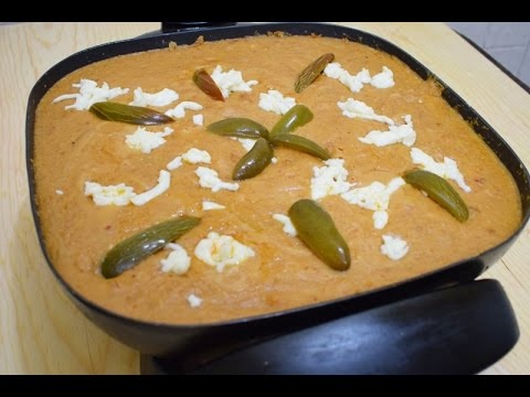 Spicy Refried Beans with Chorizo and Asadero Cheese, easy recipe