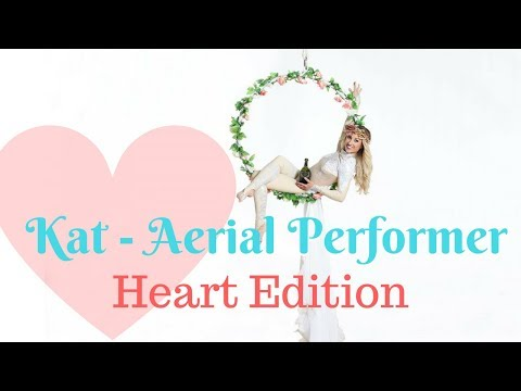 Kat Aerial Performer // Heart Edition Aerial Hoop // Book at Warble Ents
