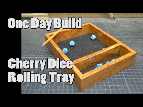 One Day Build Cherry Dice Rolling Tray