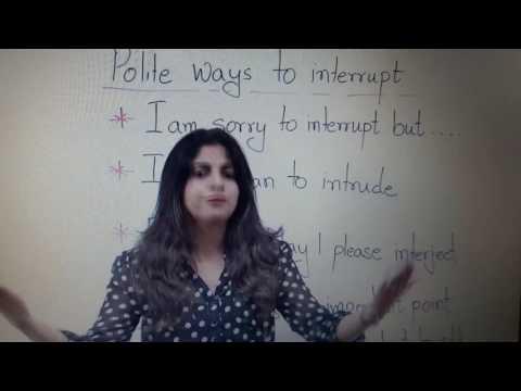 Polite Ways To Interrupt A Conversation