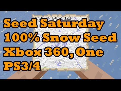 Minecraft 100% Snow Seed for Xbox 360 Xbox One PS3 & PS4 by TheyCallMeConor