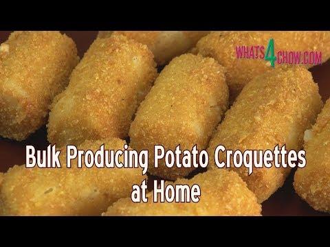 Bulk Producing Potato Croquettes at Home