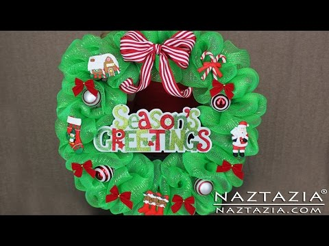 DIY Learn How to Make Deco Geo Mesh Poly Christmas Holiday Wreath