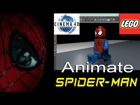Spider-Man Lego Animation - Running Tutorial (Cinema 4D)