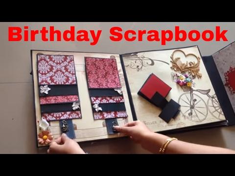 Birthday scrapbook ideas