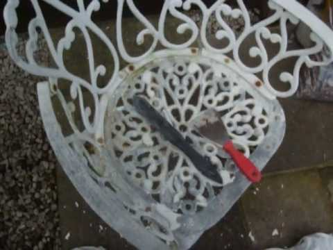 How to restore old cast garden furniture by colscopters.