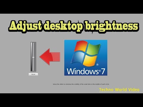 How to adjust screen brightness in desktop PC windows 7 | CHANGE BRIGHTNESS ON PC