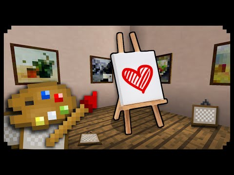 ✔ Minecraft: How to make a Canvas Holder (Easel)