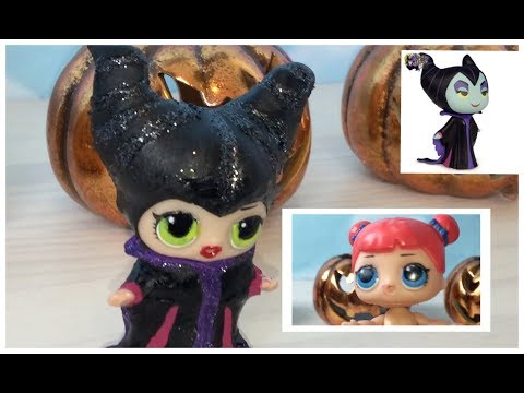 CUSTOM MALEFICENT LOL DOLL DIY L.O.L DISNEY VILLAIN SURPRISE   Elena's Toy Playroom