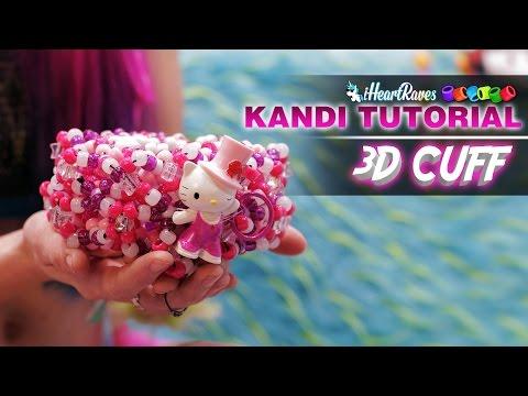 Kandi Tutorial | 3D Cuff [iHeartRaves.com]