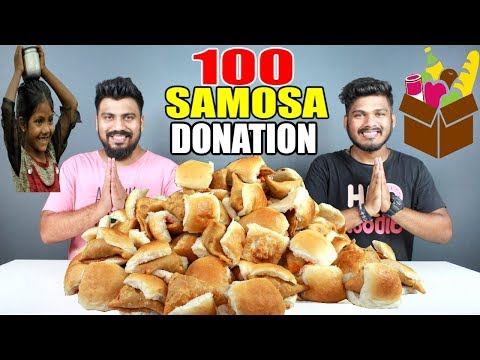 100 SAMOSA PAV DONATION | HELPING HOMELESS/POOR/NEEDY PEOPLE IN INDIA | 100K SUBSCRIBERS SPECIAL