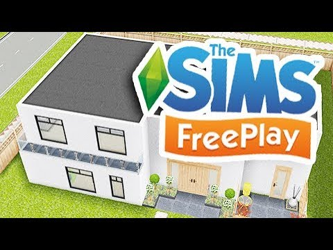 THE SIMS FREEPLAY - DESIGNER BACKYARD HOUSE TOUR!