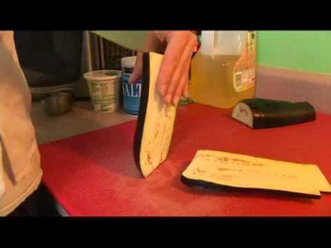 Palermo Shrimp: Slice Eggplant
