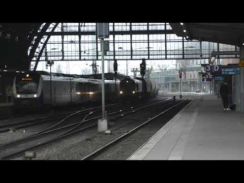 (HD) Freightliner Poland 66004 passes Bremen Hauptbahnhof - 8/11/17