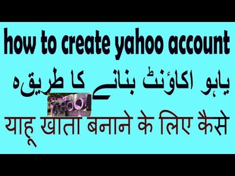 how to create yahoo account hindi urdu