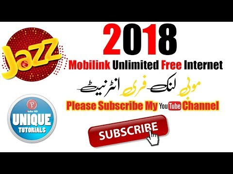 Mobilink Free Internet Unlimited 2018 By Unique Tuts