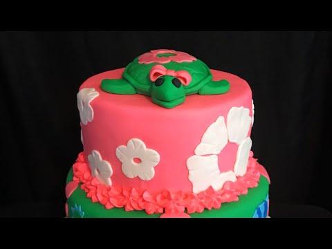 Como acer una tortuga para un pastel ( turtle cake topper )