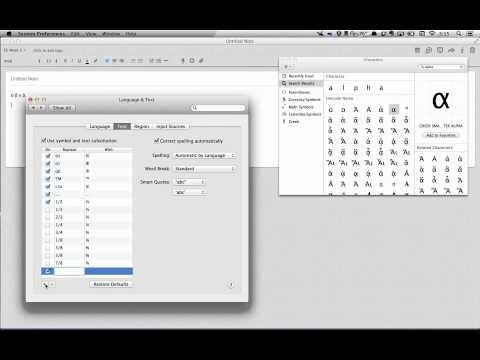 Greek Letter Shortcuts Mac OS X 10.8