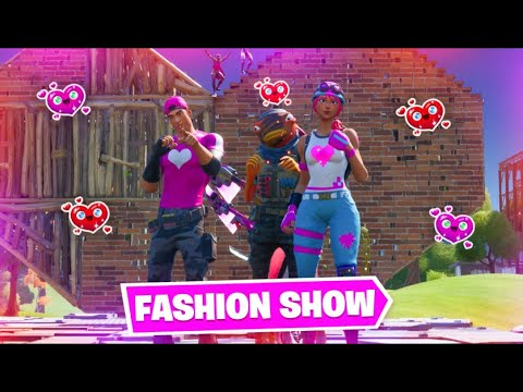 FORTNITE | Valentines's Day FASHION SHOW! | *BEST DRIP* and EMOTES Wins! [6/8]