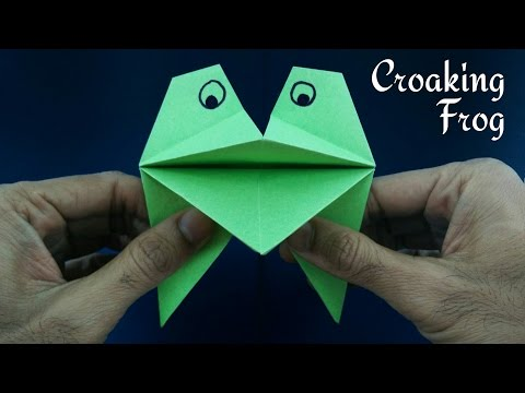 Croaking Puppet Frog - DIY Origami Tutorial by Paper Folds