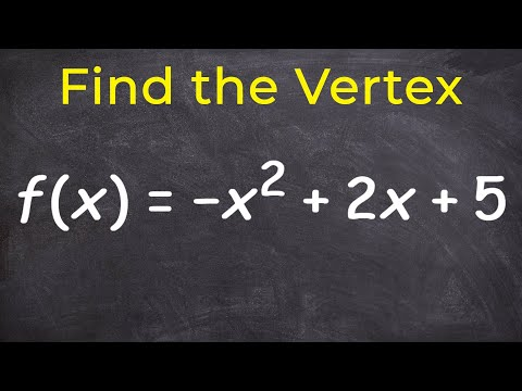 Learn how to find the vertex of a parabola - Completing the square