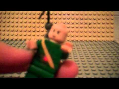 how to put a flash bang and hook on your lego figure
