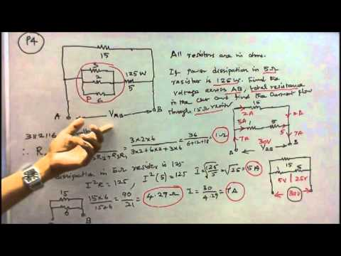 100 PROBLEMS IN ELECTRICAL ENGINEERING - PART - 02 - FIVE PROBLEMS ON POWER DISSIPATION