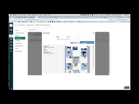 Sumbitting a Google Doc to Canvas with Turnitin