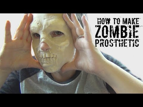 How To Make Halloween Zombie Prosthetics Tutorial for SFX Makeup! Ultimate Zombie Makeover Part 1!